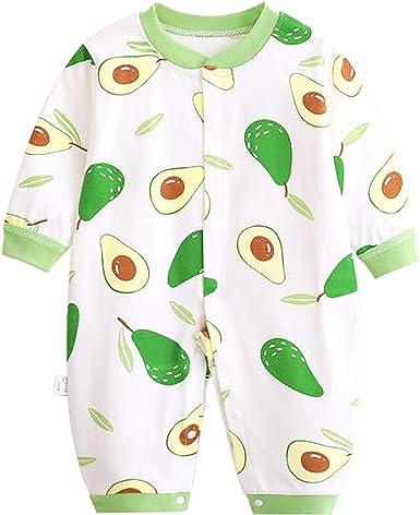 JinBei Pelele Bebé Niñas Niños Mameluco Algodon Pijama Sleepsuit Recien Nacido Mamelucos Manga Larga Mono Caricatura Trajes Pijamas 0-12 Meses