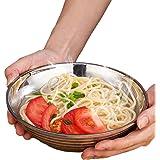 Cangad 麺鉢・丼 ラーメン丼 真空 断熱 ラーメン どんぶり 保温 保冷 ヌードル ボウル ステンレス鋼製 20CM