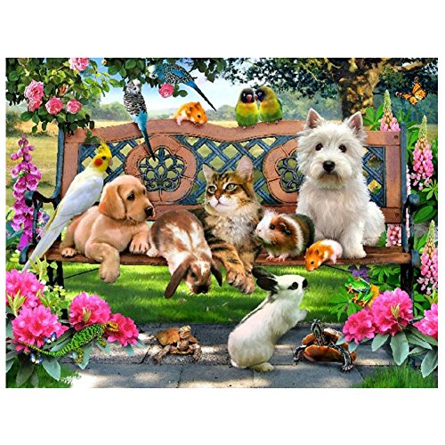 Animal Paradise 5D Diamond DIY Painting Craft Home Decor - 1
