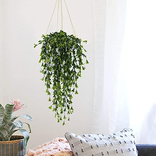 HUAESIN 2pcs Fake Vines Hanging Plants Artificial Greenery Faux Trailing on dead plant cartoon, dead finger plant, dead angel plant, dead flower, dead gardenia plant, dead office plants, dead orchid plant, dischidia plant, dead horse plant, money tree plant, dead rose plant, dead cannabis plant, dead palm plant, dead fern, dead planet, a dead plant, healthy plant dead plant, dead potted plant, dead plants in pots, dead corpse plant,