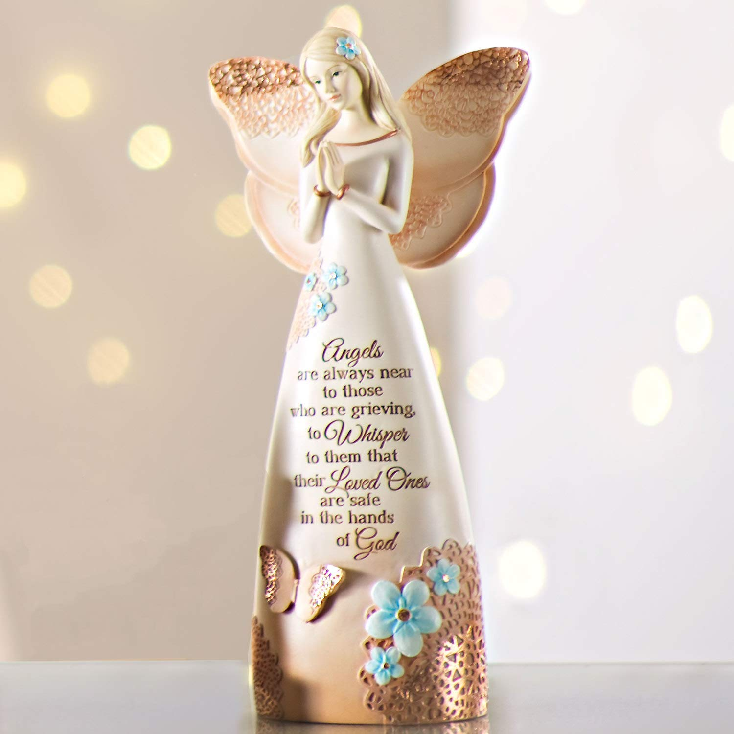 Pavilion Gift Company 19044 Light Your Way Memorial Loved Ones Angel Figurine 9-Inch