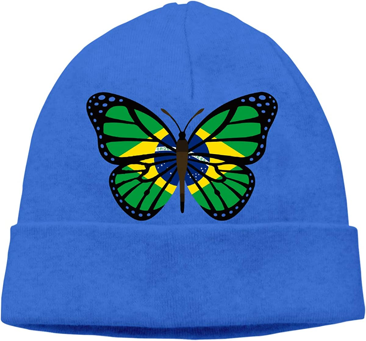 BF5Y3z/&MA ButterFlag Brazil Flag Beanie Hat for Men Women,Soft Hedging Cap Skiing Cap