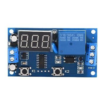 Verz/ögerungstimer Relaismodul Zeitrelais Ein Aus Timer Relaismodul DC12V 0~60 Minuten Belastbarkeit 30A 250VAC 30A 30VDC
