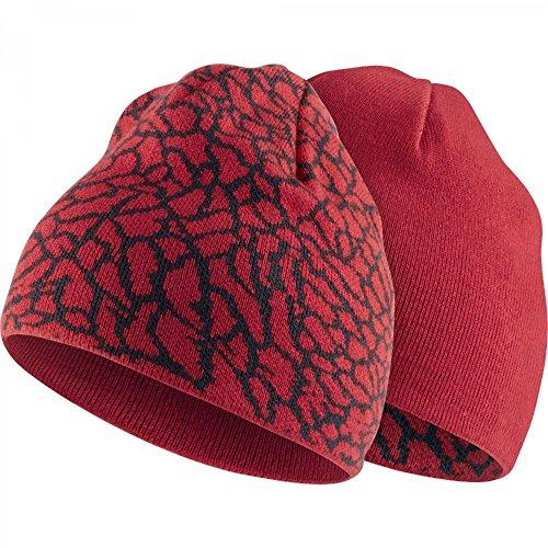 Print Reversible Beanie (The Jordan Elephant Print Reversible Knit Beanie Youth Boy's 8/20)