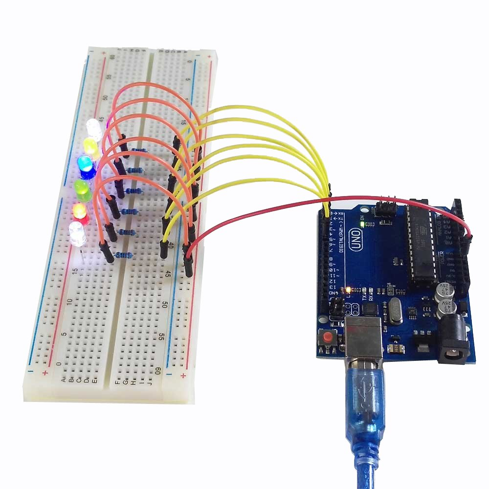 Osoyoo Basic Starter Kit With Uno R3 Board And Dvd Choosing A Breadboard Electronics For Kids Tutorial Arduino Electronic Projects Computers Accessories