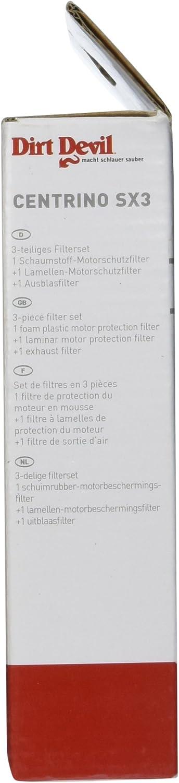 Dirt Devil Centrio SX3 3 teiliges Filter Set für M2700 0, 2700 1, M2700 2 Nr: 2700001