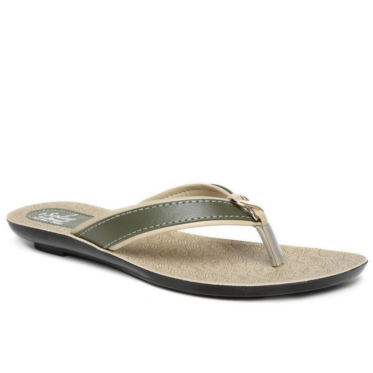 b7fd7b2fe05a PARAGON SOLEA Women s Green Flip-Flops  Buy Online at Low Prices in India -  Amazon.in