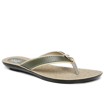 538ff5041 PARAGON SOLEA Women s Green Flip-Flops  Buy Online at Low Prices in ...