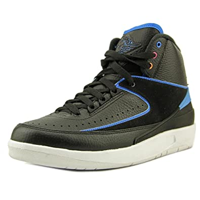 buy online 23074 33ba0 Jordan Air 2 Retro Men s Shoes Black Photo Blue White Fire Pink 834274