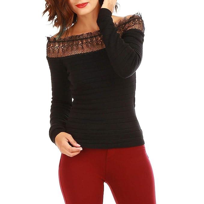 La Modeuse - Pull Manches Longues côtelé col Bardot  Amazon.fr  Vêtements  et accessoires 442fa7f429cd