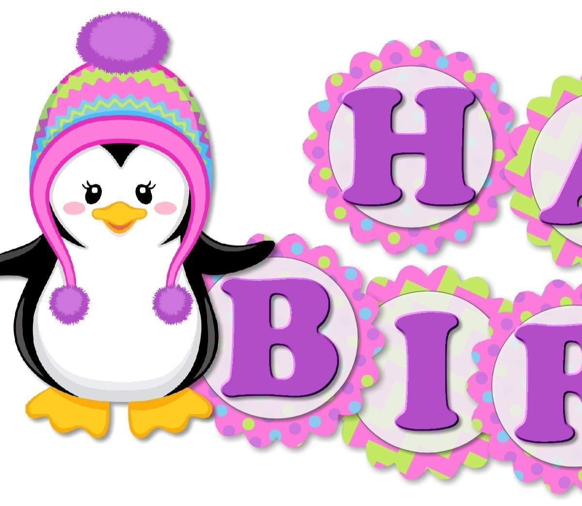 Girl Penguin Party Supplies Penguin Party Decorations Penguin Banner Penguin Cake Topper Penguin Birthday Decorations