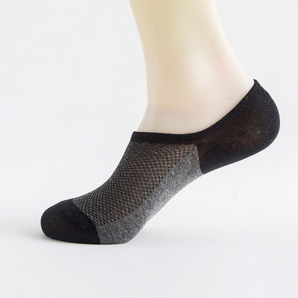 Bluelans Mens Sports Cotton Nonslip Invisible Low Cut No Show Socks Breathable Ankle Socks