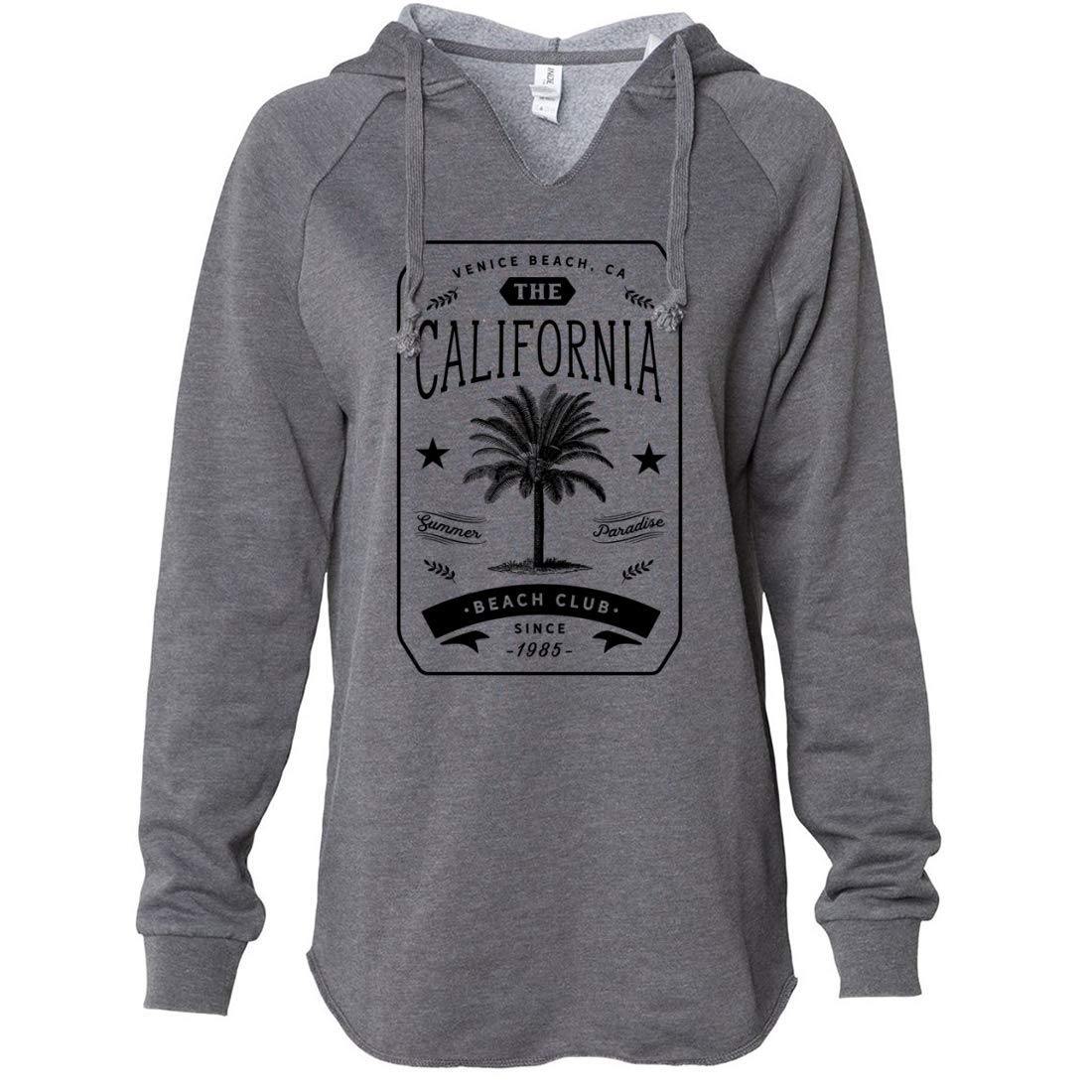 Dolphin Shirt Co California Beach Club Womens Soft Hooded Pullover