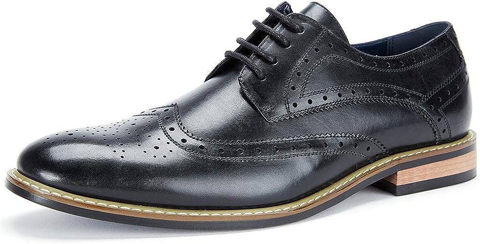 Amazon.com: Cestfini - Zapatos de vestir de piel con punta ...