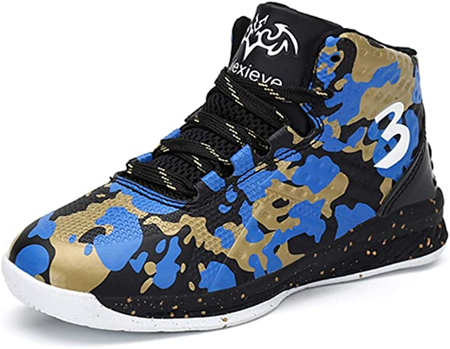 Boys Basketball Kid Trainers Shoes Outdoor Sneakers