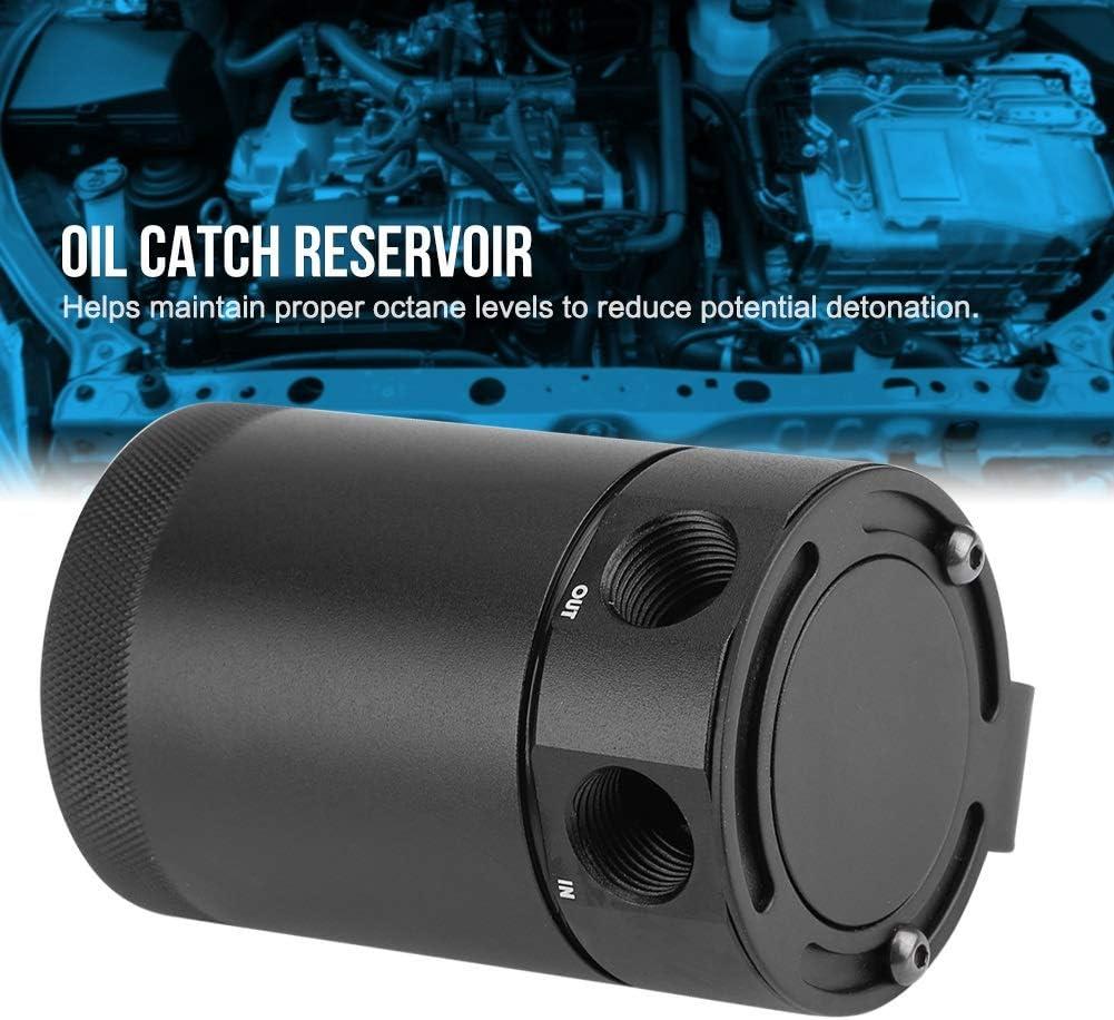 KSTE Catch Universal Compacto con deflectores de 2 Puertos Oil Can Tanque respiradero del dep/ósito