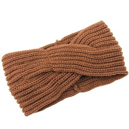 TININNA Donne Moda Ritorto annodate Crochet Knit Fasce Fascia dei capelli  Accessori per capelli Copricapo Cerchietti 4ae5a3a381db
