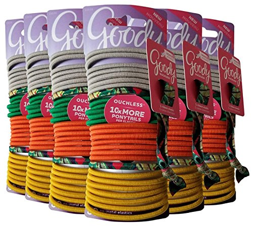 Goody Girls Ouchless Elastic Hair Ties, 180 Count, Assorted Colors by Goody