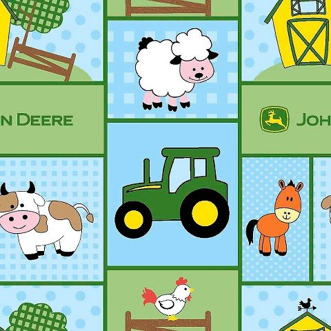 John Deere Baby Barn Yard Patch Fabric by John
