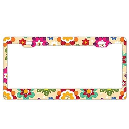 Amazon.com: License Plate Frame,Mexican Bright Aluminum Polish ...