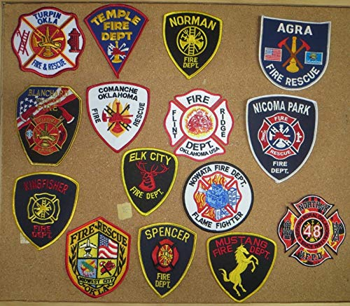 OKLAHOMA FIRE/RESCUE PATCHES! SET TWO! LOT OF 15!