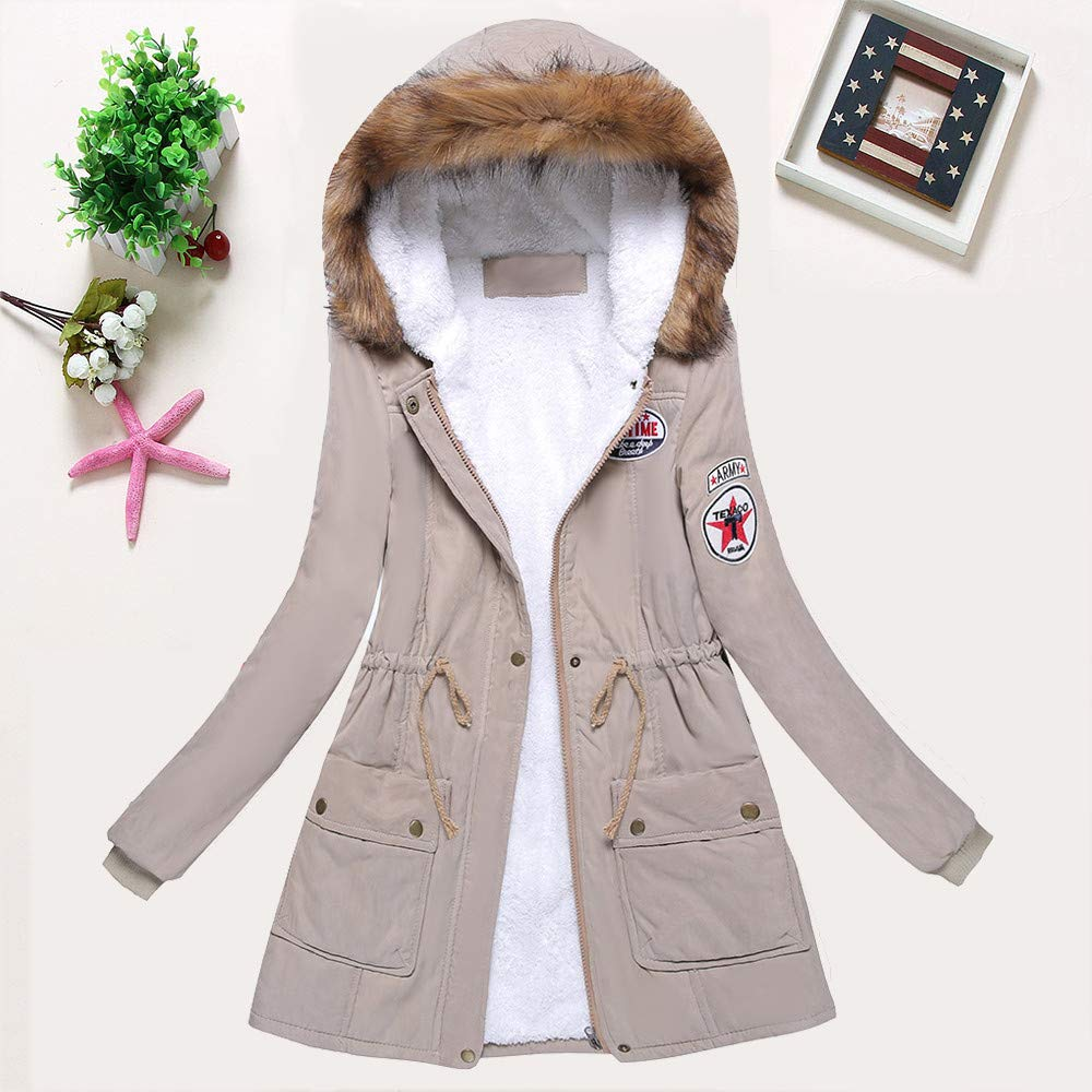 Amazon.com: Creazrise Womens Military Hooded Warm Winter ...