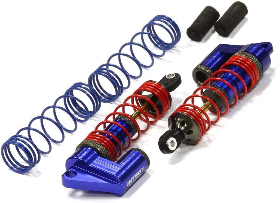 Integy RC Model Hop-ups T7963BLUE MSR9 Front Piggyback Shocks for Traxxas 1//10 Stampede 2WD Rustler 2WD Slash 2WD