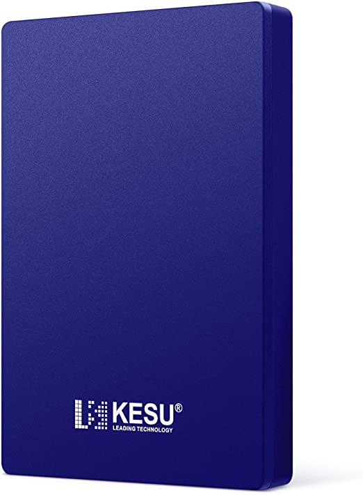 KESU 外付けHDD ポータブルハードディスク 500GB 2.5インチ USB3.0に対応 PC/Mac/PS4/XBox適用 (Blue)