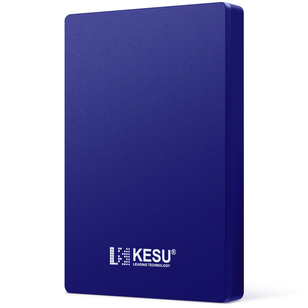 2.5'' 500GB Portable External Hard Drive USB3.0 SATA HDD Storage for PC, Mac, Desktop, Laptop, MacBook, Chromebook, Xbox One, Xbox 360, PS4, PS4 Pro, PS4 Slim (Blue)