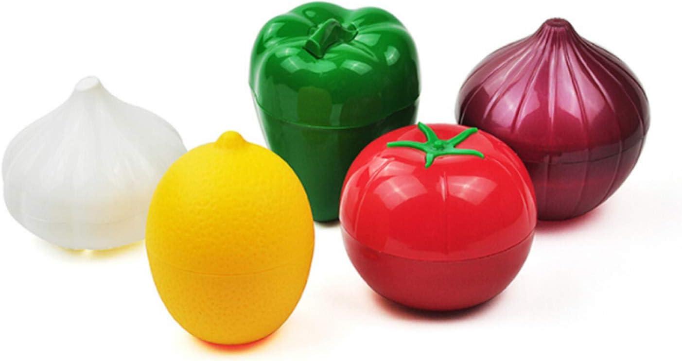 None Lemon WeishenG Alaben la Cocina Comida de repollo Recipiente de Verduras lim/ón Cebolla Aguacate ajo Tomate