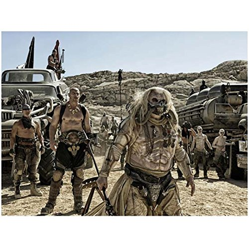 Hugh Keays-Byrne as Immortan Joe and Nathan Jones as Rictus Erectus leading the gangs of the apocalypse in Mad Max Fury Road 8 X 10 Inch Photo