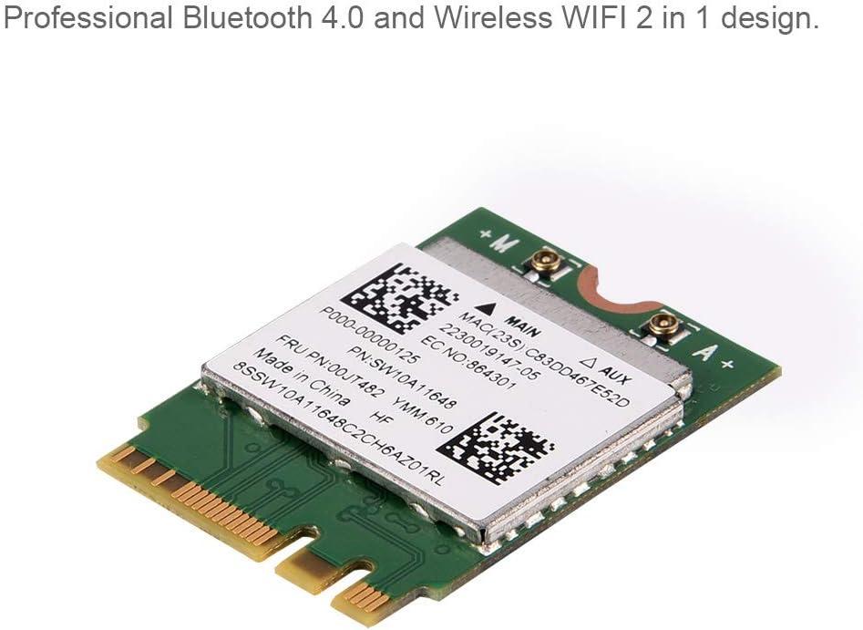 Sanpyl Dual Band 2.4G//5Ghz Wireless Network Card 300Mbps Bluetooth 4.0 WiFi Mini PCI-E Wireless Card for Desktop Computers