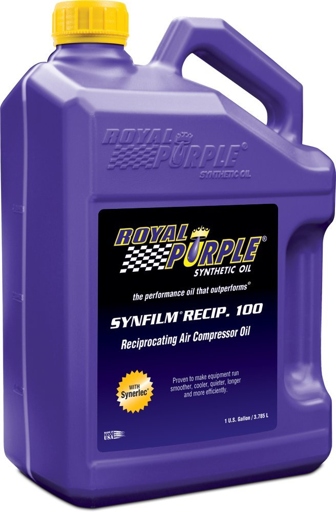 Royal Purple 44513 Synfilm Recip 100 High Performance Synthetic Air Compressor Lubricant- 1 gal. (Case of 4) by Royal Purple