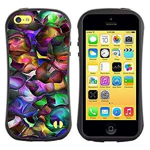 Suave TPU GEL Carcasa Funda Silicona Blando Estuche Caso de protección (para) Apple Iphone 5C / CECELL Phone case / / Neon Colors Random Modern Art Wallpaper /