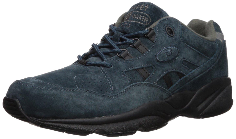 Propet Men's Stability Walker Walking Shoe, Denim Suede, 10 N US