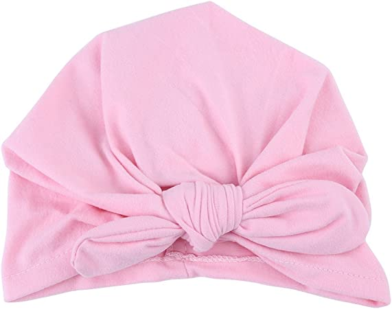 Rose Turban Bandeau Set B/éb/é Enfants Gar/çon Fille Bowknot Beau Chapeau dEnveloppement de T/ête Doux Nouveau-N/é Super Coton Mignon H/ôpital Indien Chapeau 6 Couleurs