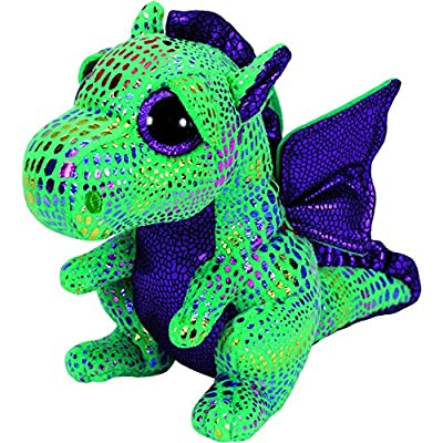 Ty Beanie Boos Cinder The Green Dragon Plush: Toys & Games