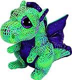 Toys : Ty Beanie Boos Cinder The Green Dragon Plush