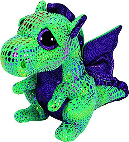 Amazon.com  Ty Beanie Boos Cinder The Green Dragon Plush  Toys   Games 7c13ce28c3e