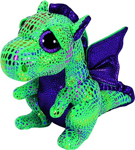 "Ty Beanie Boos ~ CINDER the 6"" Green Dragon Stuffed Toy  201"