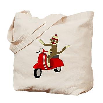 CafePress - diseño de mono Vespa Scooter - Gamuza de bolsa de lona bolsa, bolsa de la compra Small caqui: Amazon.es: Hogar