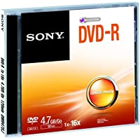 Sony DVD-R JC Recordable DVD, 5 Pack