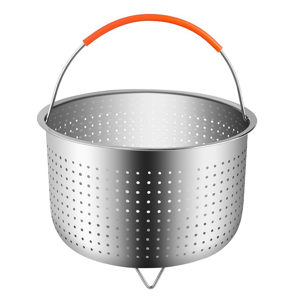 TOOGOO The Original Sturdy Steamer Basket for 8 Quart Instant Pot Pressure Cooker Stainless Steel Steamer Insert with Handle Great Accessory for Steaming Vegetables Fruits Eggs