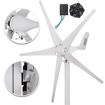 Happybuy Wind Turbine Generator 500W DC 24V Wind Turbine 5 Blade Low Wind Speed Starting NSK Bearings Garden Street Lights Wind Turbines with Charge Controller Garden: Garden & Outdoor