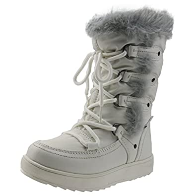 Orgrimmar Girls Warm Wool Waterproof Snow Boots (Little Kid 11.5 af7a2a42790a