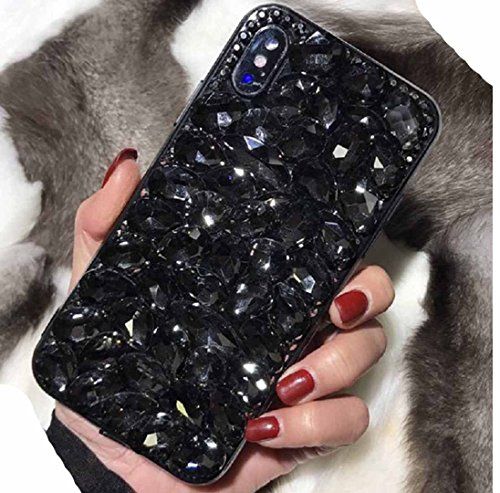 Huawei P9Lite Case, Very Glitter Manual Charming Diamands Crystal Full Bling Clear Cover, WEIFA 2018 Newest Super Luxury Noble Princess Thin Phone Case for Huawei P9 Lite Black