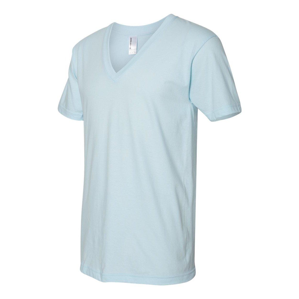 American Apparel Camiseta de Jersey Fino con Cuello en V