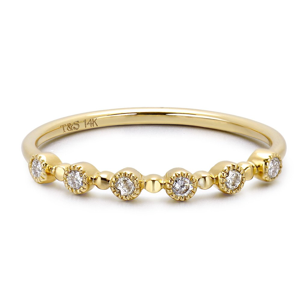 TARA Legacy 14k Gold Stackable Diamond Ring (0.11cttw, G-H Color, SI1-SI2 Clarity)