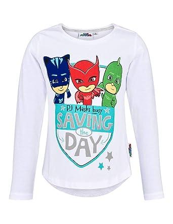 c0785c12dc6ae Les Pyjamasques T-Shirt asymétrique Manches Longues Enfant Fille Blanc de 3  à 8ans  Amazon.fr  Vêtements et accessoires
