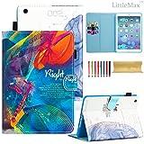 iPad Mini Case - LittleMax(TM) Smart Auto Wake/Sleep Stand Case [Magnet Closure] Flip Folio Wallet Case Cover for iPad Mini 3/2/1 [Free Cleaning Cloth,Stylus Pen]-#4 Left & Right Brain